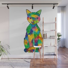 Rainbow Cat Wall Mural