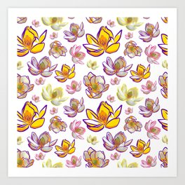 Bright Floral Pattern Art Print