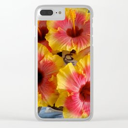 Hibiscus Plate Clear iPhone Case