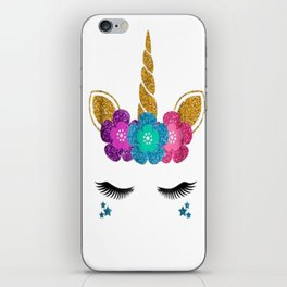 Unicorn Face Halloween T-Shirt Unicorn Birthday Outfit iPhone Skin