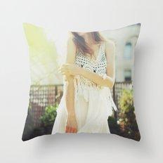 A Golden Summer's End Throw Pillow