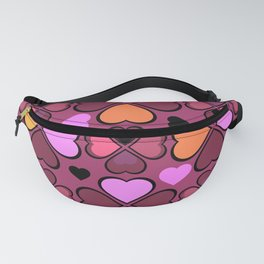 Hearts Flower Creation 10 Fanny Pack