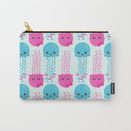 Jellyfish Pattern, Cute Jellyfish, Sea Animals Carry-All Pouch