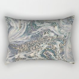 Metallic Marbled Agate Rectangular Pillow