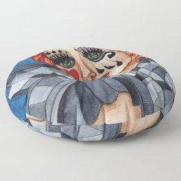 Harlequin - watercolor Floor Pillow