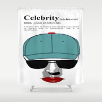 celebrity Shower Curtains featuring Celebrity by jt7art&design