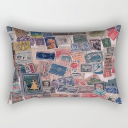 20th Century through stamps Rectangular Pillow
