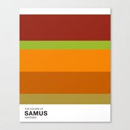 The Colors of Samus Canvas Print