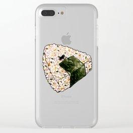Onigiri Snooze Clear iPhone Case