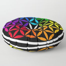 Secret flower of life Floor Pillow