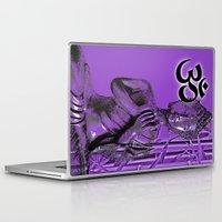 om Laptop & iPad Skins featuring OM by Enri-Art
