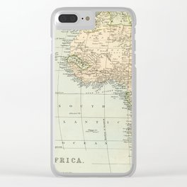 West  & North Africa Vintage Map Clear iPhone Case