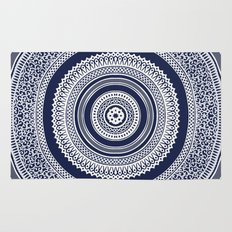Denim Mandala Rug
