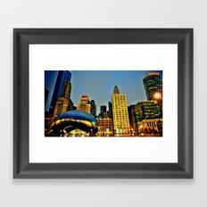 Chicago Bean Framed Art Print