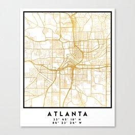 ATLANTA GEORGIA CITY STREET MAP ART Canvas Print