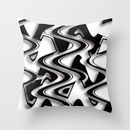 Abstraction in black and white CB Throw Pillow