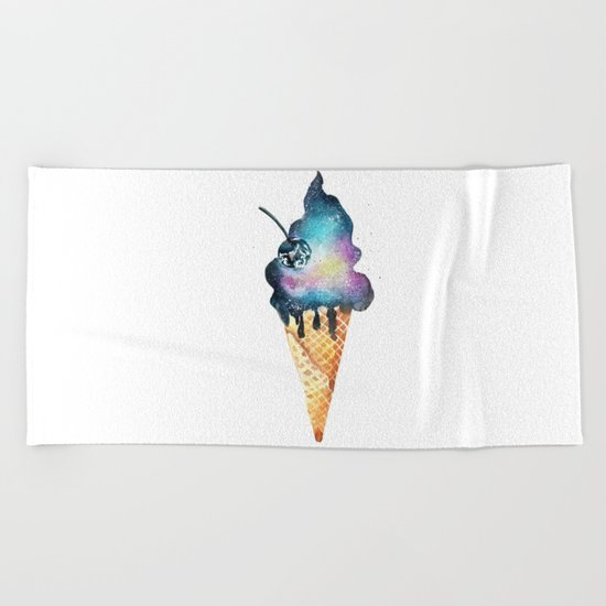 universal ice cream Beach Towel