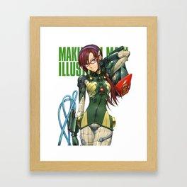 Mari Makinami Illustrious Framed Art Print
