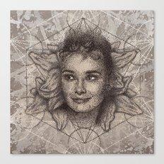 Audrey Hepburn dot work portrait Canvas Print