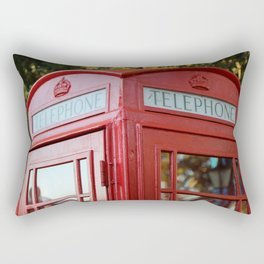 British Telephone Kiosk Rectangular Pillow
