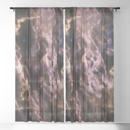 Bold Backlit Marble Sheer Curtain