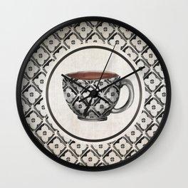 Moroccan Boho Pattern Coffee Mug Wall Clock