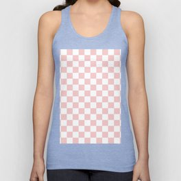 Gingham Pink Blush Rose Quartz Checked Pattern Unisex Tank Top