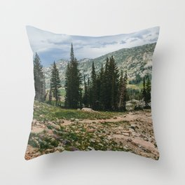 Wasatch Mountains, Utah Throw Pillow