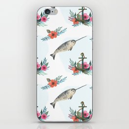Summertime Nautical Narwhal iPhone Skin