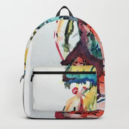Woman in a Bar Backpack