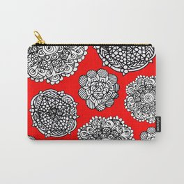 red mandala maze  Carry-All Pouch