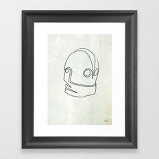 One line Iron Giant Framed Art Print