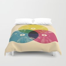 Music is the colors of life Duvet Cover