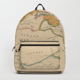 Map Of Athens 1898 Backpack