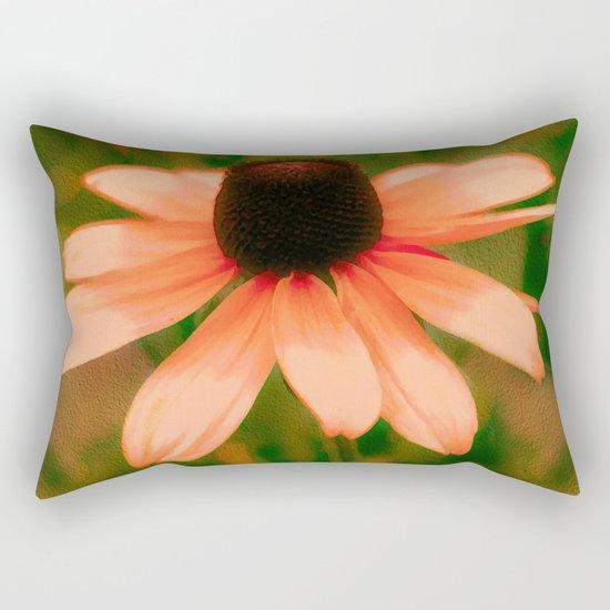 Vibrant Orange Coneflower Rectangular Pillow