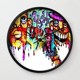 Graffiti  Wall Clock