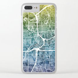 Atlanta Georgia City Map Clear iPhone Case
