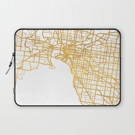 MELBOURNE AUSTRALIA CITY STREET MAP ART Laptop Sleeve