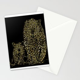 Big Cat Models: Magnified Snow Leopard and Cub 01-01 Stationery Cards