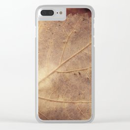 Winter leaf Clear iPhone Case