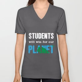 Students Climate Protection | Planet Change Quote Unisex V-Neck