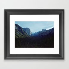 valley up Framed Art Print