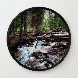 Mountain Stream Wall Clock