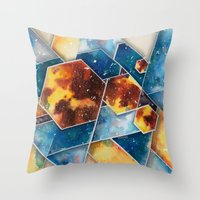 prometheus Throw Pillows featuring :: Prometheus :: by Antonio Holguin