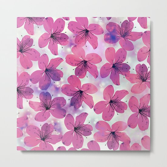 Floral Pattern B Metal Print