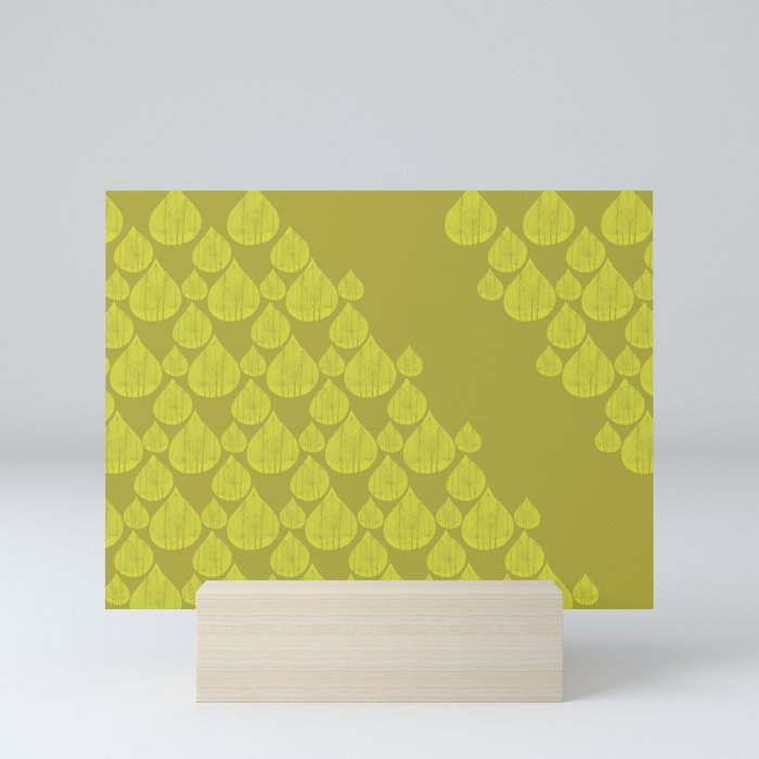 Green drops Mini Art Print