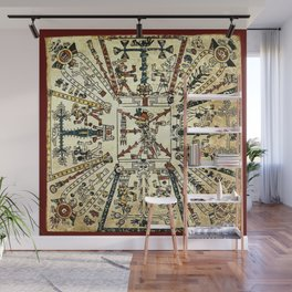 Aztec Collection: God Xiuhtecuhtli Wall Mural