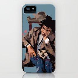 Basquiat and cat. iPhone Case