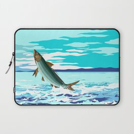tarpon leaping out of sea Laptop Sleeve