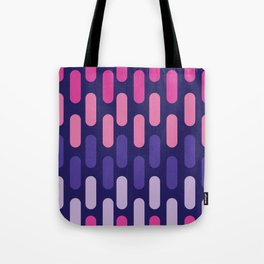 Colourful lines on navy background Tote Bag